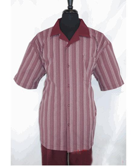 Mens 5 Buttons Stripe