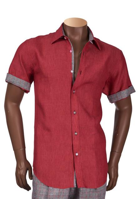 Cranberry Mens Short Sleeve