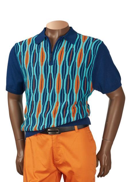 Mens Collared Short Sleeve