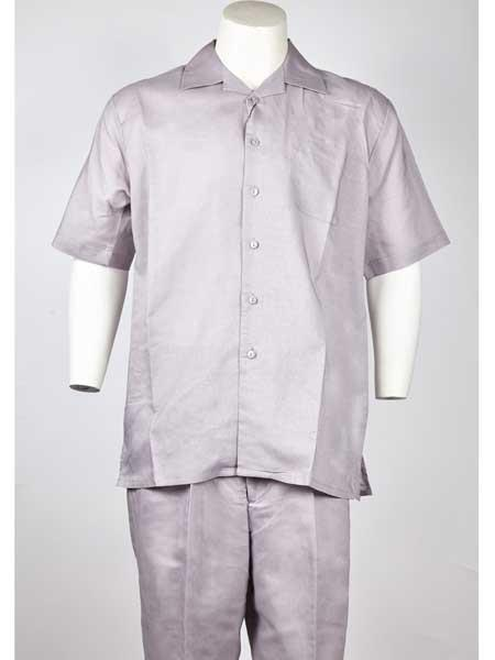 Men's Silver Short Sleeve