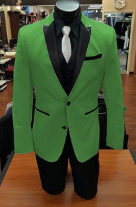Product# Stage Alberto Nardoni Best Mens Italian Apple Green Suits Brands Tuxedo
