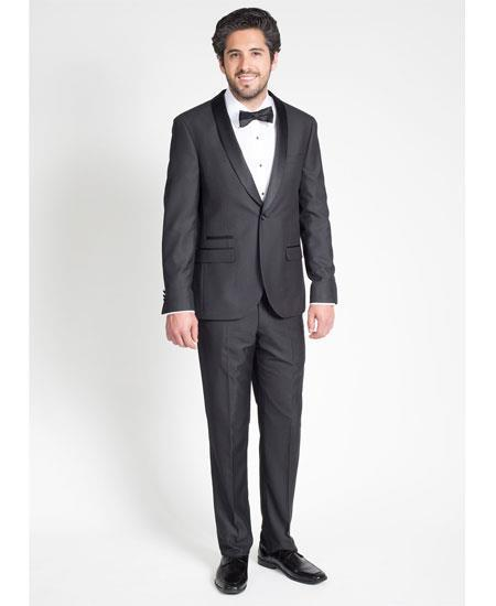 Product# GD1781 Men's Single Breasted Black Slim Fit Tuxedo with Shawl Lapel Clearance Sale Online