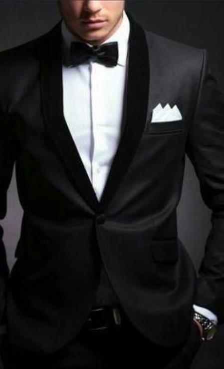 Mens Velvet Lapel Suit