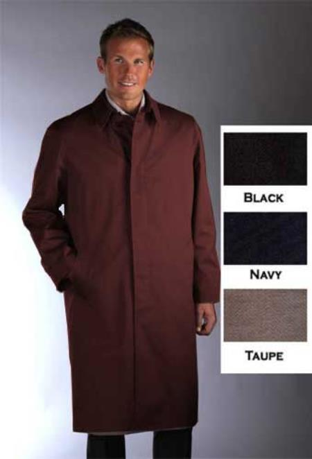 Product# BRW932 Single Breasted Classic Poplin Raincoat-Trench Coat brown color shade
