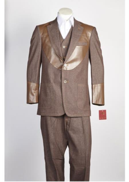 Mens 2 Piece Brown
