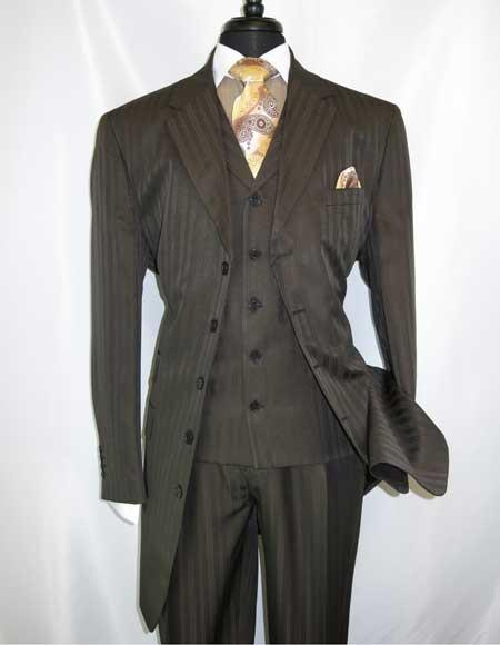 Mens 5 Button Brown