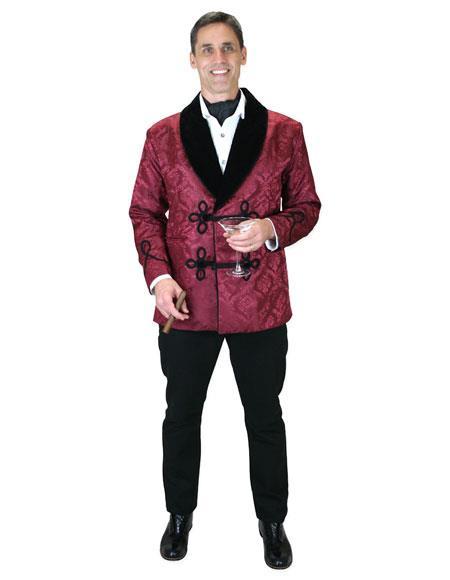 Men's Stylish burgundy brocade