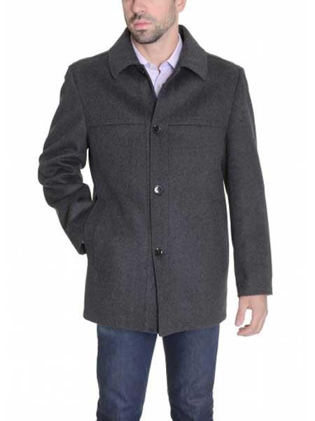Mens Charcoal Gray Single