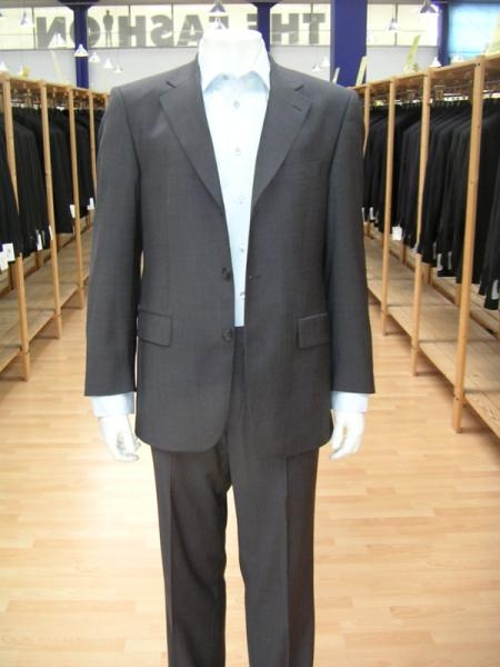 Product# WBGI79 Dark Grey Masculine color Gray Single Breasted Discount Cheap Dress 3 Button Style Cheap Suit