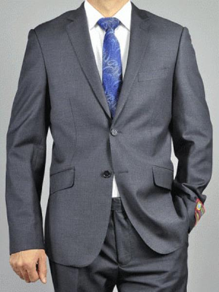 Single Breasted Charcoal Grey Suit