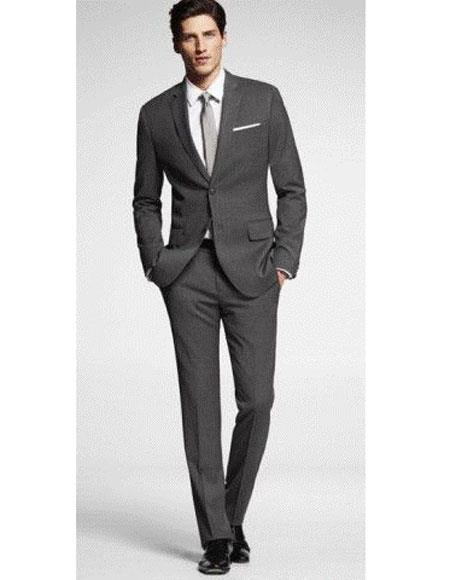 Mens charcoal suit grey