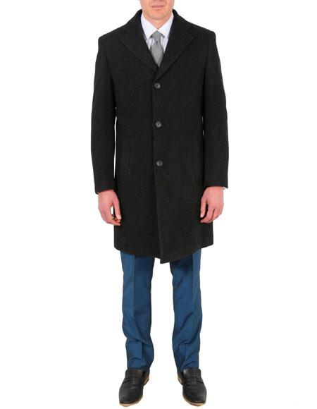 Mens Modern Fit Wool/Poly