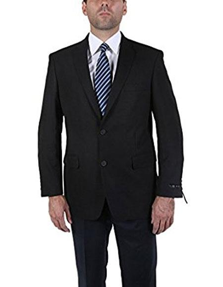 Product# CH1884 Men's Classic Black 2 Button Blazer Suit Jacket