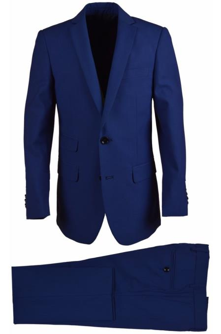 Product# SM4816 Husky Wool Blend Cobalt Boys Dress Formal Boys And Men Suit Set perfect for wedding