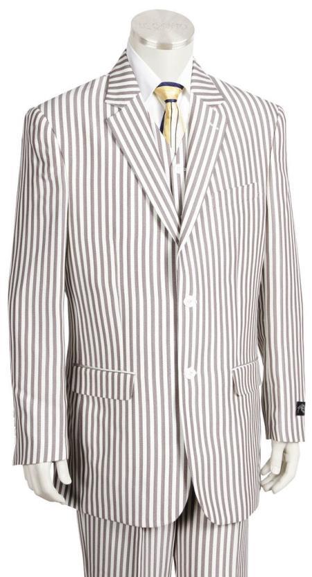 Mens Victorian Stripe Single