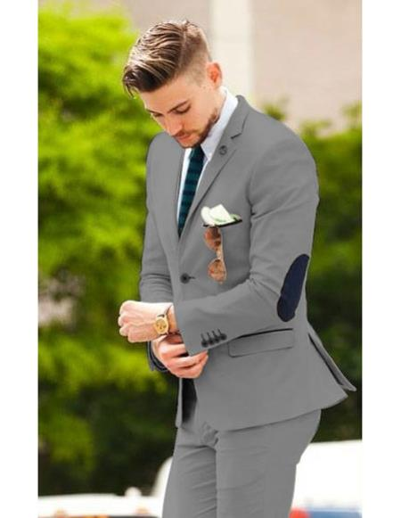 men's suit jacket with elbow patches Matching Free pants Dark Brown (Slim Fit or Regular fit Cut Available)