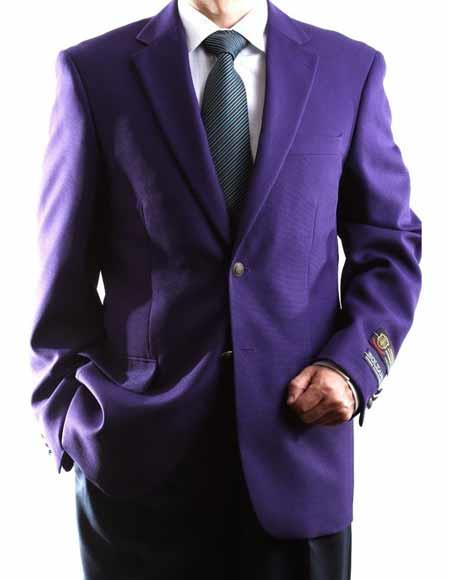 Men's 2 Buttons Single Breasted Egg Plant Big & Tall No Vent Sport Coat