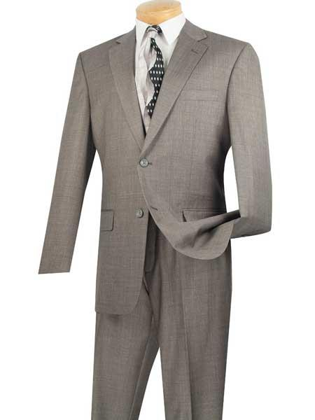 Product# JSM-698 Men's Gray Single Breasted Extra Long 2 Piece Notch Lapel Big And Tall Suit