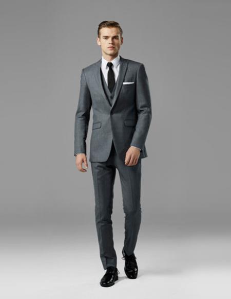 Mens Gray best Suit