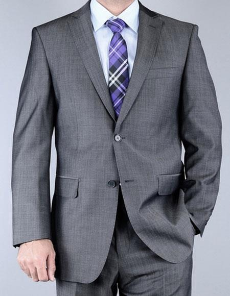 Product# JSM-6457 Men's Sharkskin Single Breasted Wool Authentic Giorgio Fiorelli Brand suits