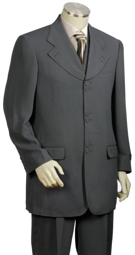 Mens Wide Lapel Single