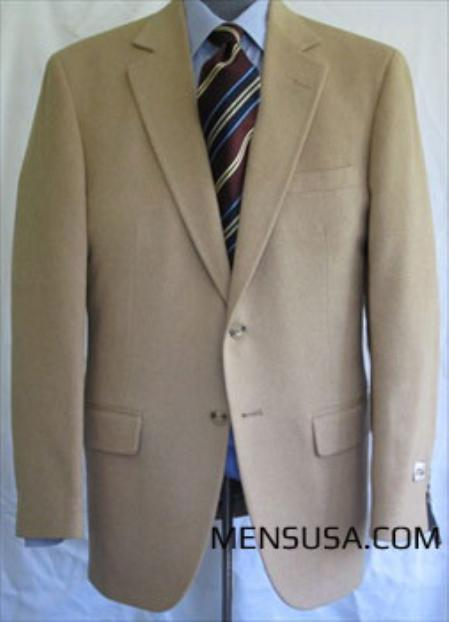 Single Breasted Camel ~ Khaki Hair Sport Coat