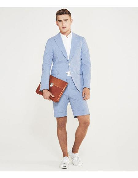 JSM-5058 Shorts Set Pants Light Blue Summer Suit