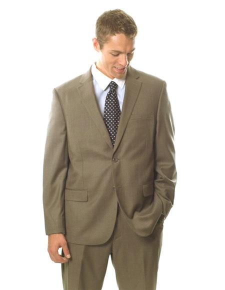 Product# GD1367 Caravelli Men's Classic Fit Single Breasted Light Brown 2 Button Notch Lapel Suit