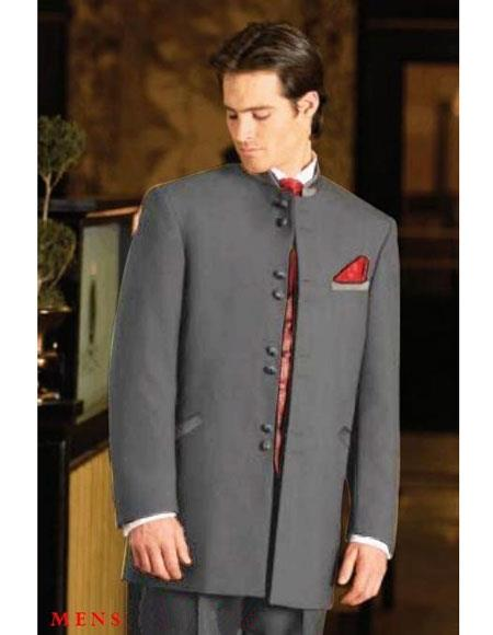 Mens Mandarin Tuxedo Single