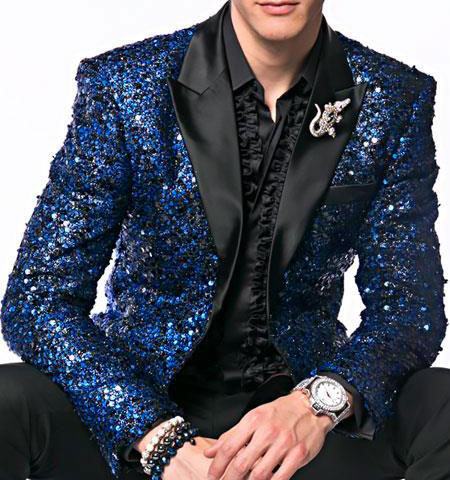 Mens Sequin paisley Navy