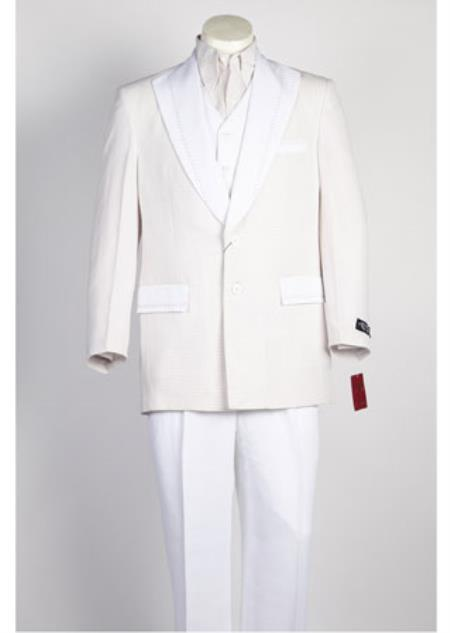 Product# JSM-91 Mens Single Breasted 2 Piece Navy White Suit