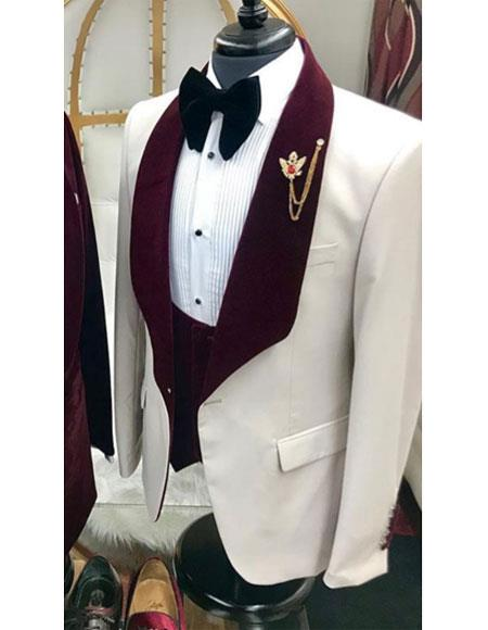 Menswear Burgundy Tuxedo