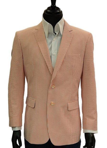 Orange Cheap priced men's Searsucker Seersucker Sale Blazer September 2017 Delivery