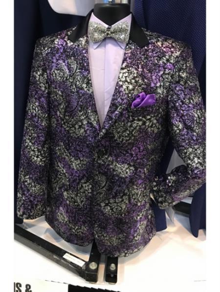 Mens Purple Fancy Peak