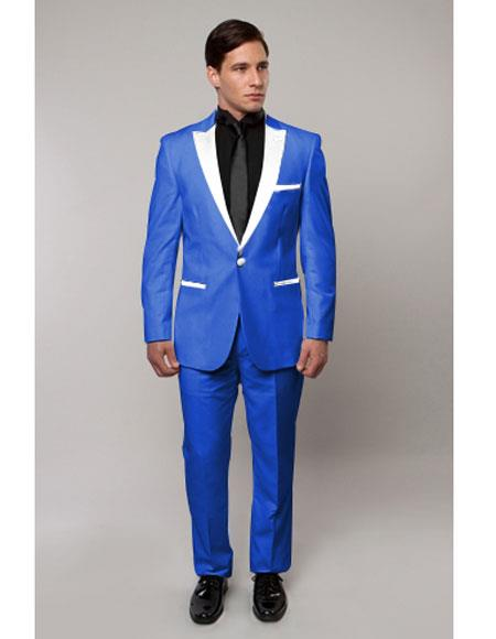 Slim Tux Royal Blue