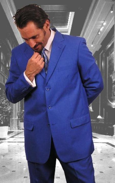 Festive Royal Blue Suit