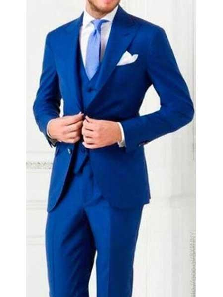 Mens 3 Piece Royal