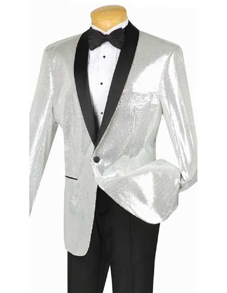 Product Jsm 3014 Men S Sequin Dinner Jacket Silver Single B