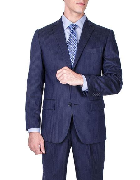 Mens Tonal Stripe Wool