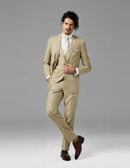 Mens Tan best Suit