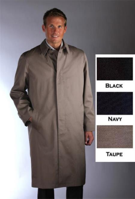 Product# YHJ152 Single Breasted Classic Poplin Raincoat-Trench Coat Taupe