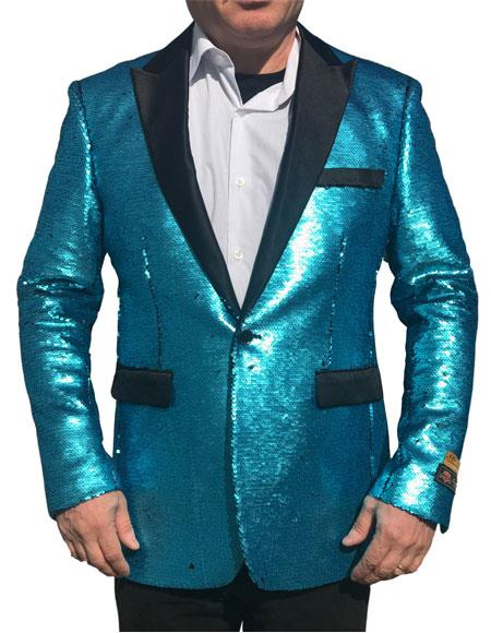 Product# GD720 Alberto Nardoni Best Mens Italian Suits Brands Shiny Sequin Tuxedo Black Lapel