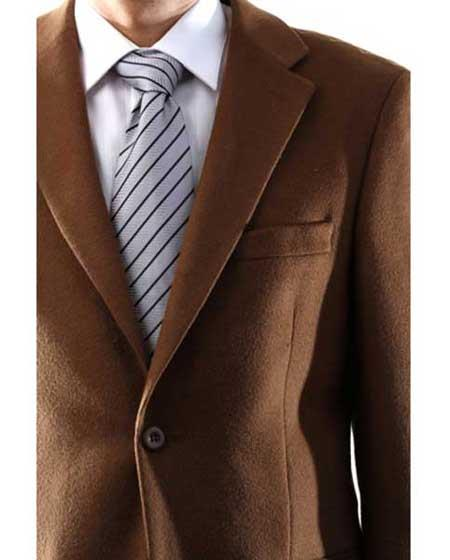 Mens Vicuna Single Breasted