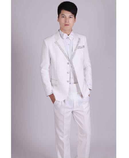 Mens White & Silver