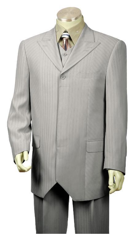 Button Style Grey Fashion
