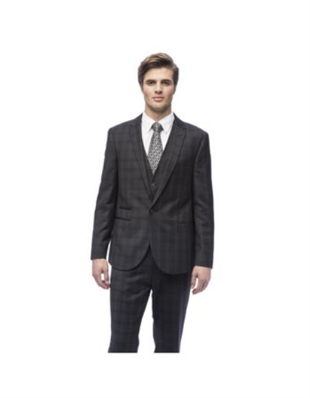 Slim Fit Charcoal Color Suit