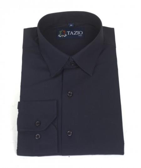 Product# EG3156 Dress Shirt Slim narrow Style Fit Navy