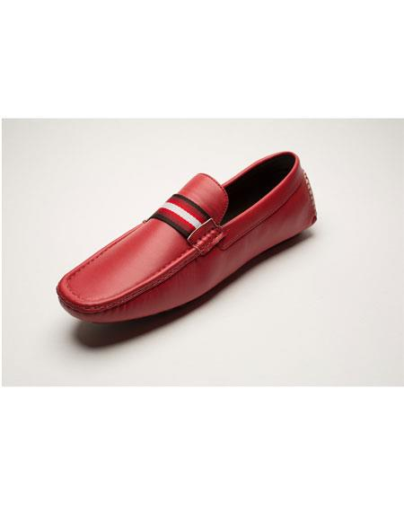 Product# GD1085 Men's Slip-On Style Fashionable Red Loafer Shoes