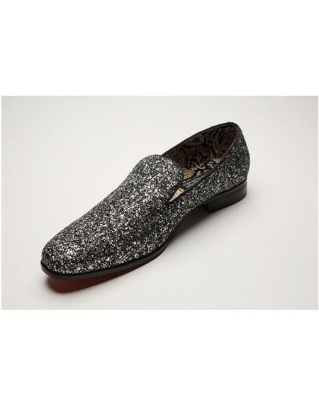 Mens Slip On Shiny