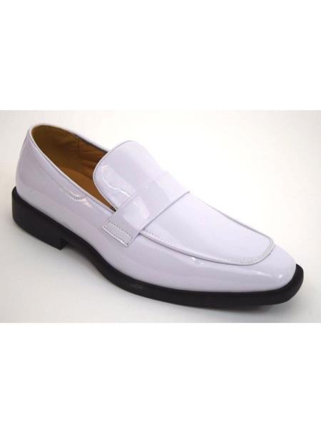 Mens Solid White Slip